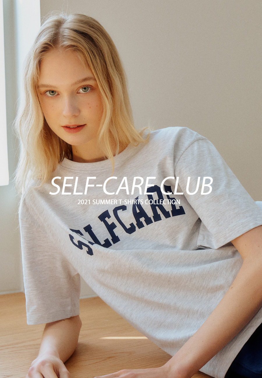 "21 SUMMER T-SHIRTS COLLECTION""SELF-CARE CLUB"""